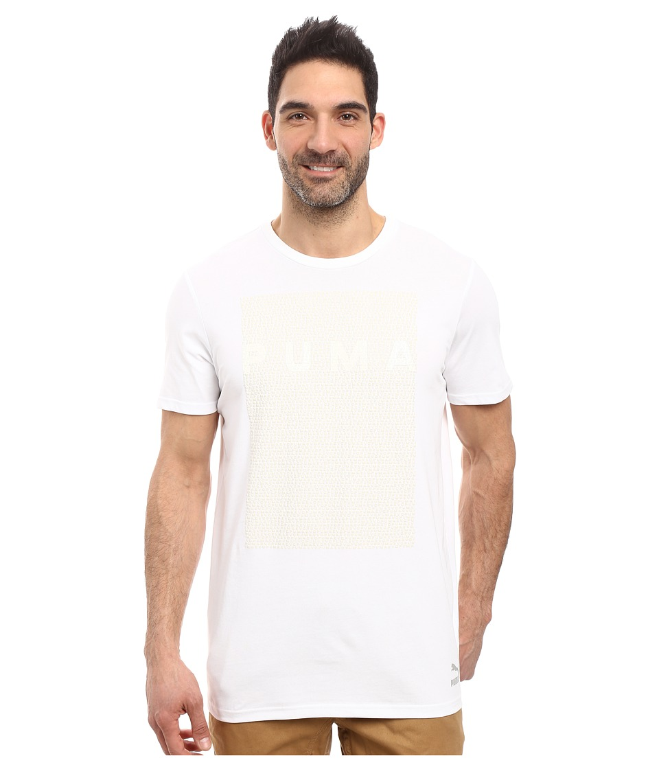PUMA - Evo Long Tee (PUMA White) Men's T Shirt