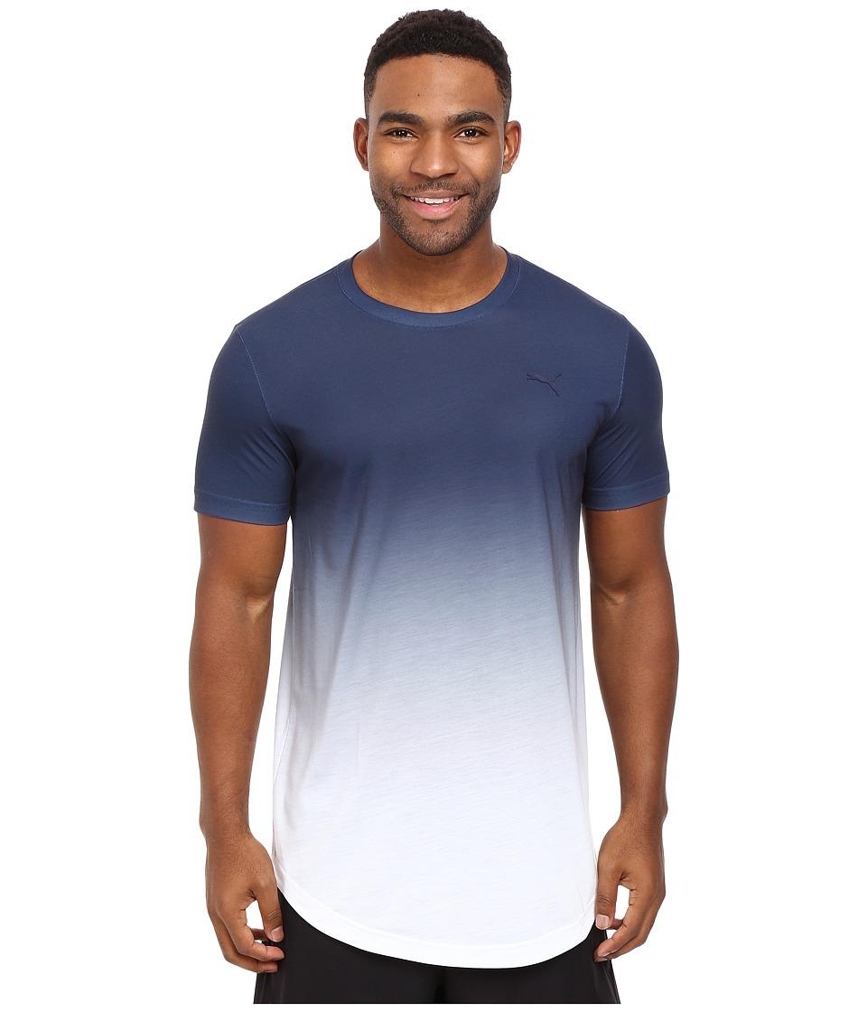 PUMA - Fluo Fade Graphic Tee (Puma White/Peacoat) Men's T Shirt
