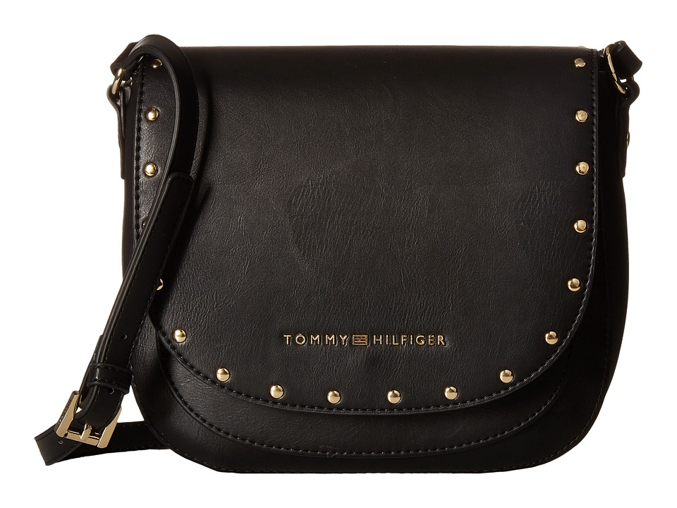 Tommy Hilfiger - Betty Saddle Bag (Black) Bags