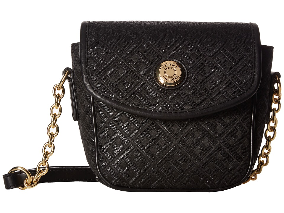 Tommy Hilfiger - Saddle Bag Item II (Metallic Black) Bags