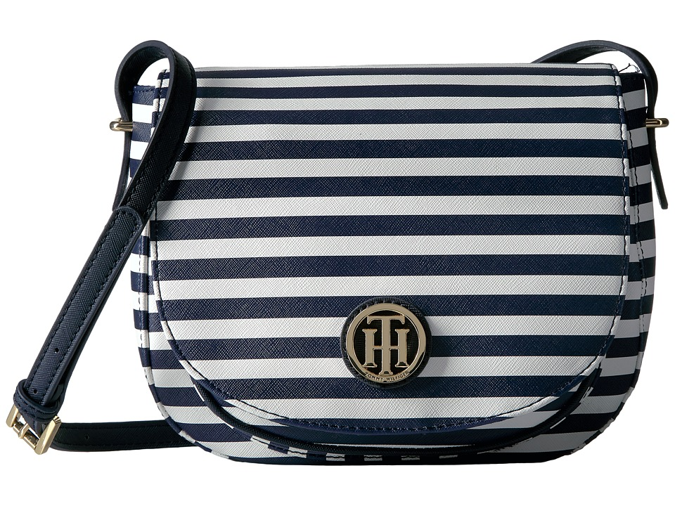 Tommy Hilfiger - Honey Saddle Bag (Navy/Cream) Bags
