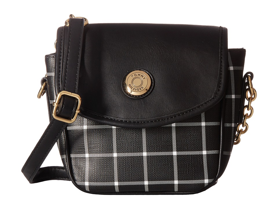 Tommy Hilfiger - Saddle Bag Item II (Black/White) Bags