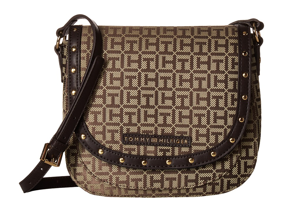 Tommy Hilfiger - Betty Saddle Bag (Tan/Dark Chocolate) Bags
