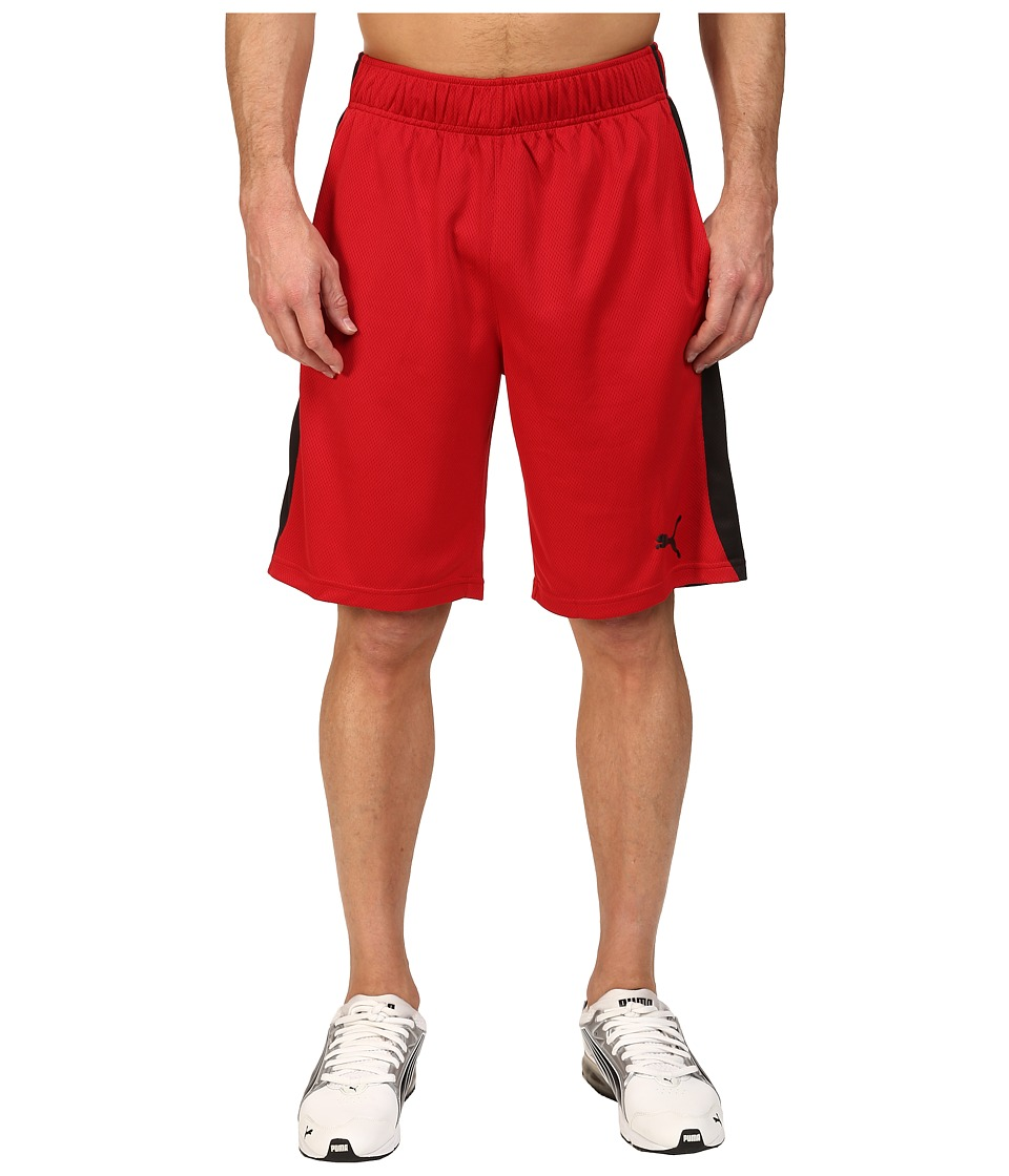 PUMA - Formstripe Mesh Shorts (Chili Pepper/Puma Black) Men's Shorts