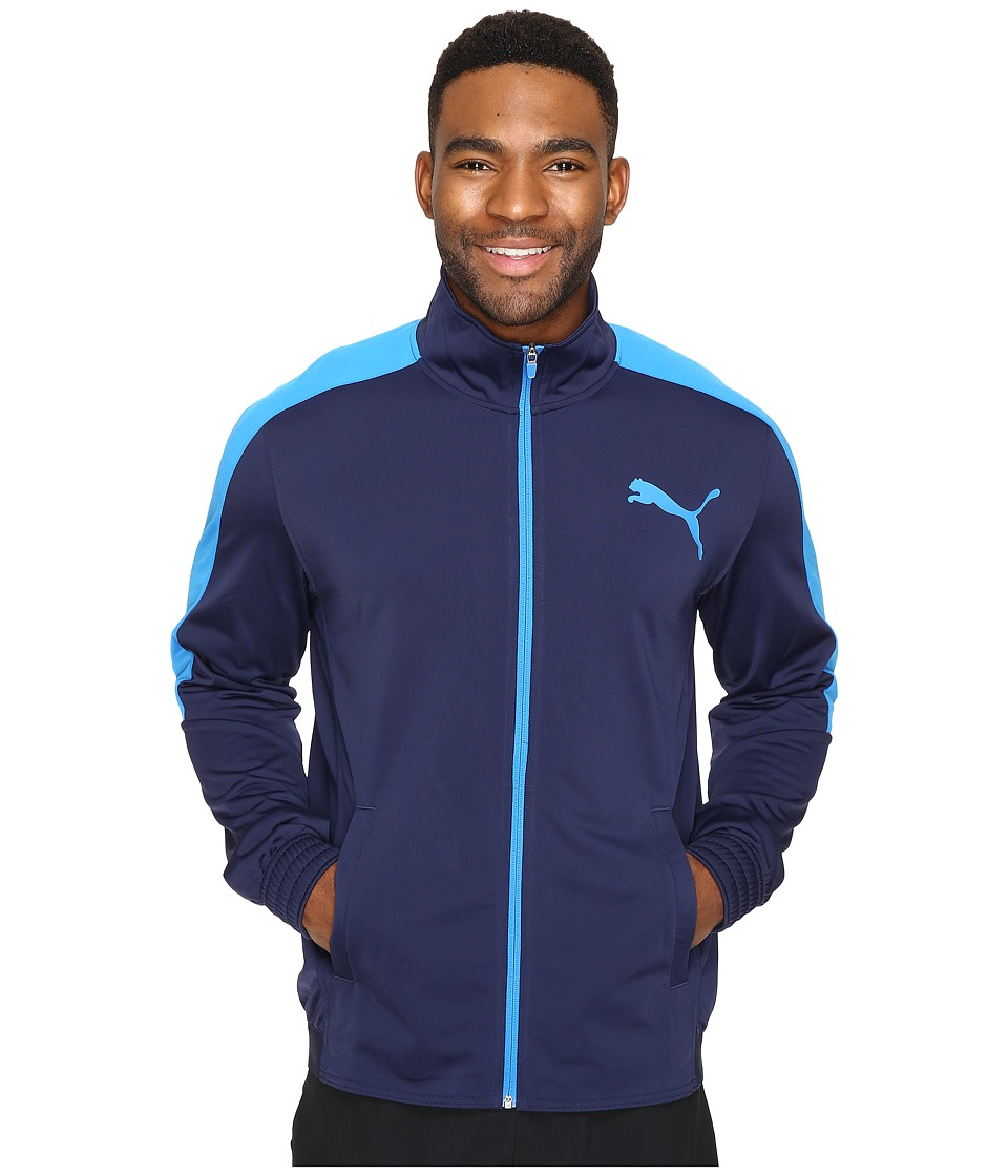 PUMA - Contrast Jacket (Peacoat/Electric Blue Lemonade) Men's Coat