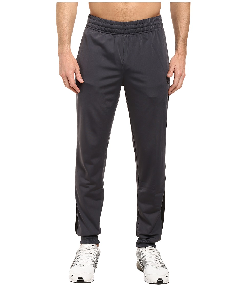PUMA - Contrast Cuffed Pants (Ebony/Puma Black) Men's Casual Pants