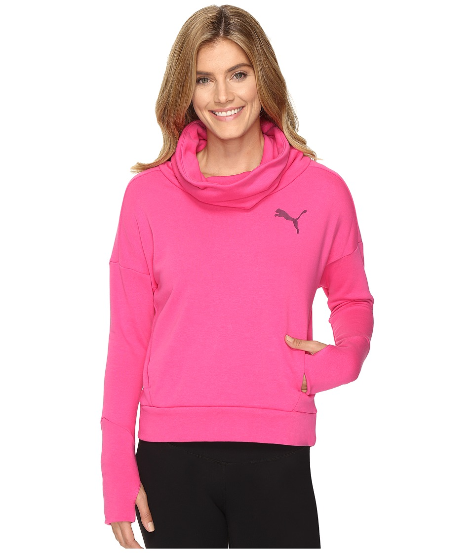 PUMA - Elevated Rollneck Sweat (Fuchsia Purple) Women's Clothing