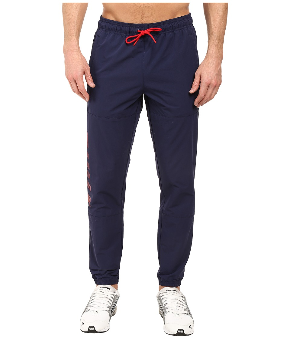PUMA - Speed Font Woven Pants (Peacoat) Men's Workout
