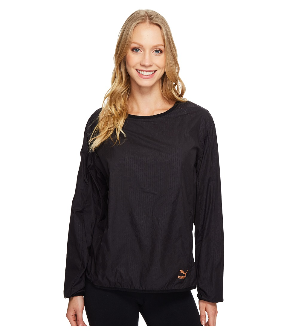 PUMA - Evo Embossed Crew Sweat (PUMA Black) Women's Clothing