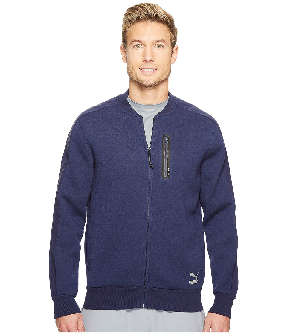 PUMA - Evo T7 Sweat Jacket (Peacoat) Men's Clothing