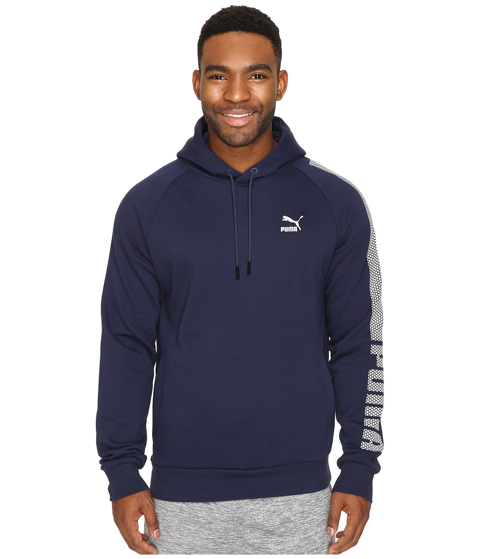 PUMA - Evo Core Hoodie Fleece (Peacoat) Men's Clothing