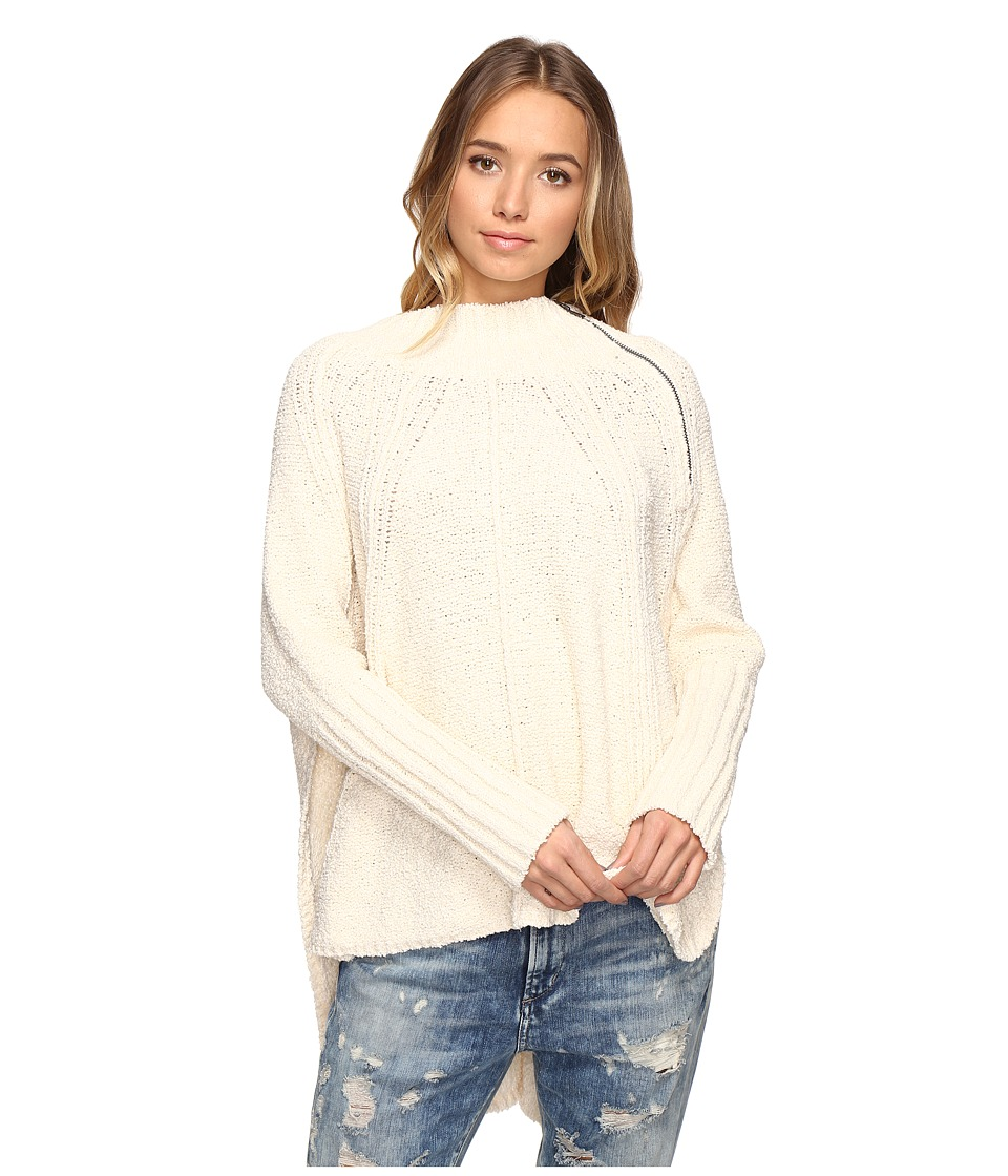 Free People - Spin Around Poncho (Ivory) Women's Clothing