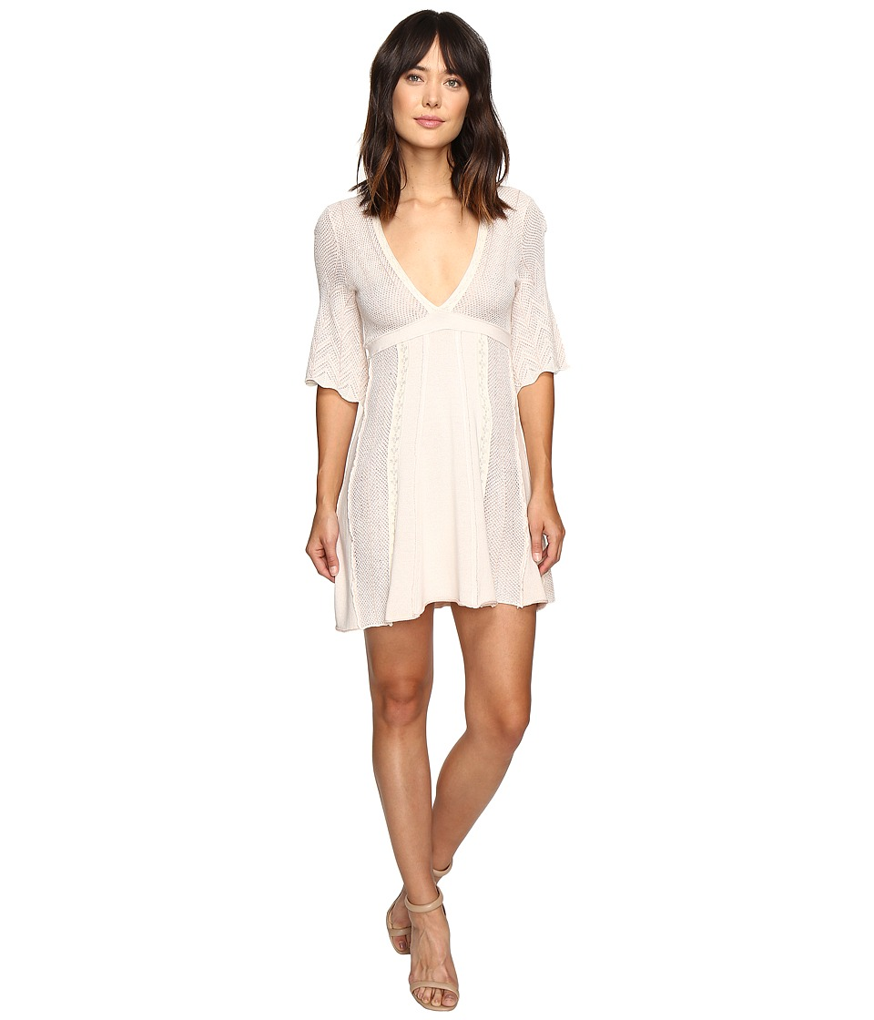 Free People - Find Your Love Sweater Dress (Ivory) Women's Dress