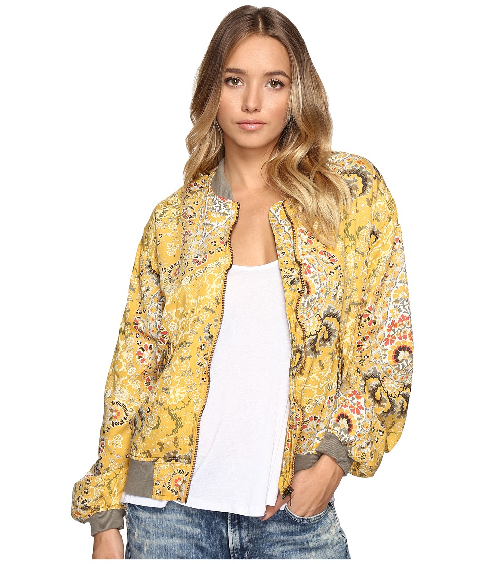 Free People - Printed Bomber (Gold) Women's Coat