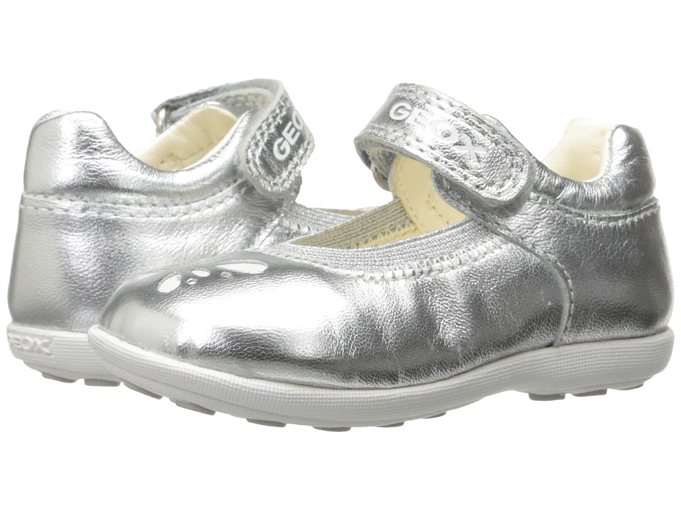 Geox Kids - Jr Girl Jodie 79 (Toddler) (Silver) Girl's Shoes