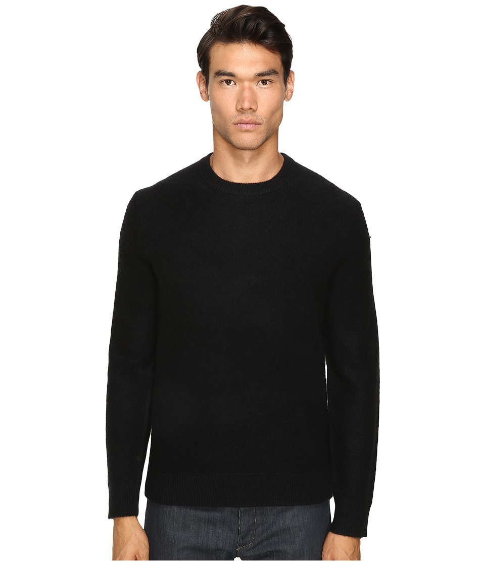 Vince - Boiled Cashmere Crew Neck Sweater (Black) Men's Sweater