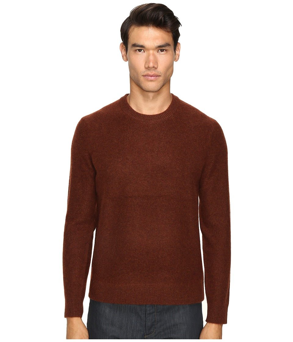 Vince - Boiled Cashmere Crew Neck Sweater (Bark) Men's Sweater