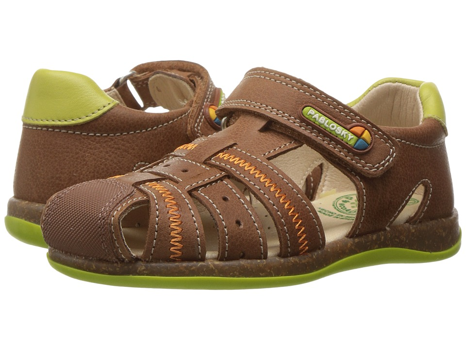 Pablosky Kids - 0066 (Toddler/Little Kid) (Brown) Girl's Shoes