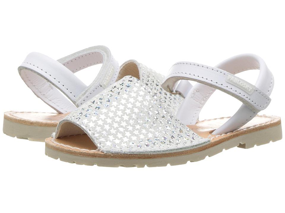 Pablosky Kids - 1210 (Toddler/Little Kid) (White) Girl's Shoes