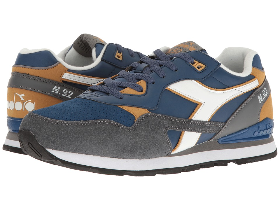 Diadora - N-92 WNT (Estate Blue/Amber Gold) Men's Shoes