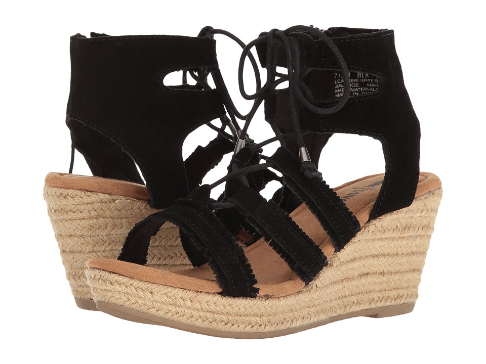 Minnetonka - Leighton (Black Suede) Women's Wedge Shoes