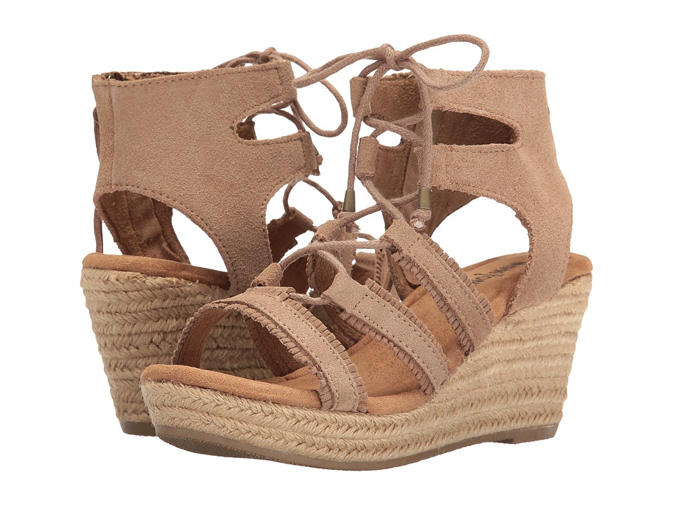 Minnetonka - Leighton (Taupe Suede) Women's Wedge Shoes