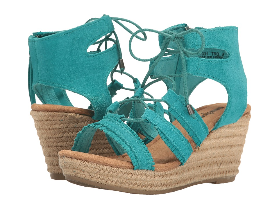Minnetonka - Leighton (Turquoise Suede) Women's Wedge Shoes