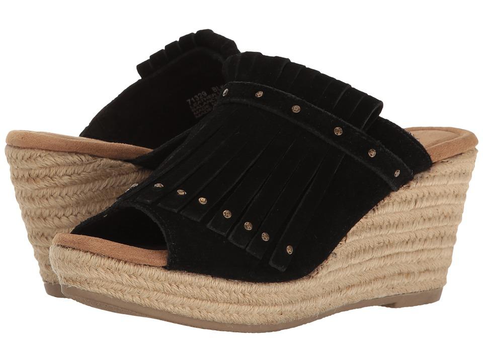 Minnetonka - Quinn (Black Suede) Women's Wedge Shoes