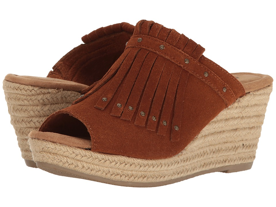 Minnetonka - Quinn (Brown Suede) Women's Wedge Shoes