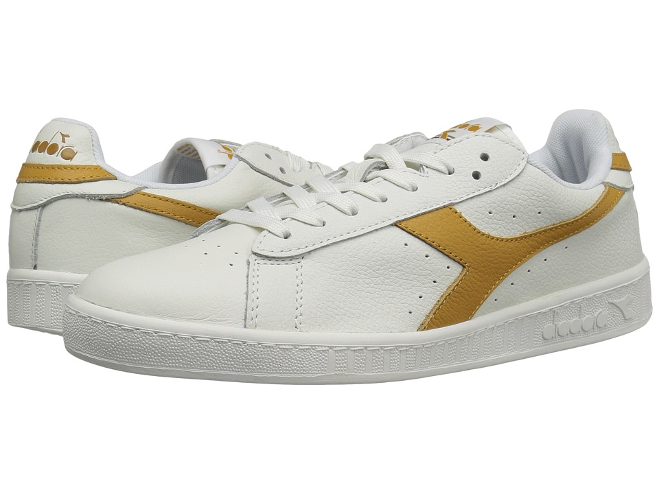 Diadora - Game L Low Waxed (White/Amber Gold) Athletic Shoes