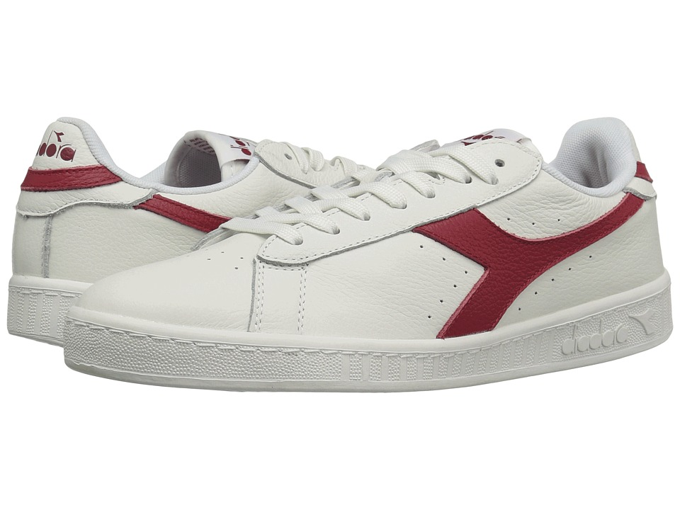 Diadora - Game L Low Waxed (White/Red Pepper) Athletic Shoes