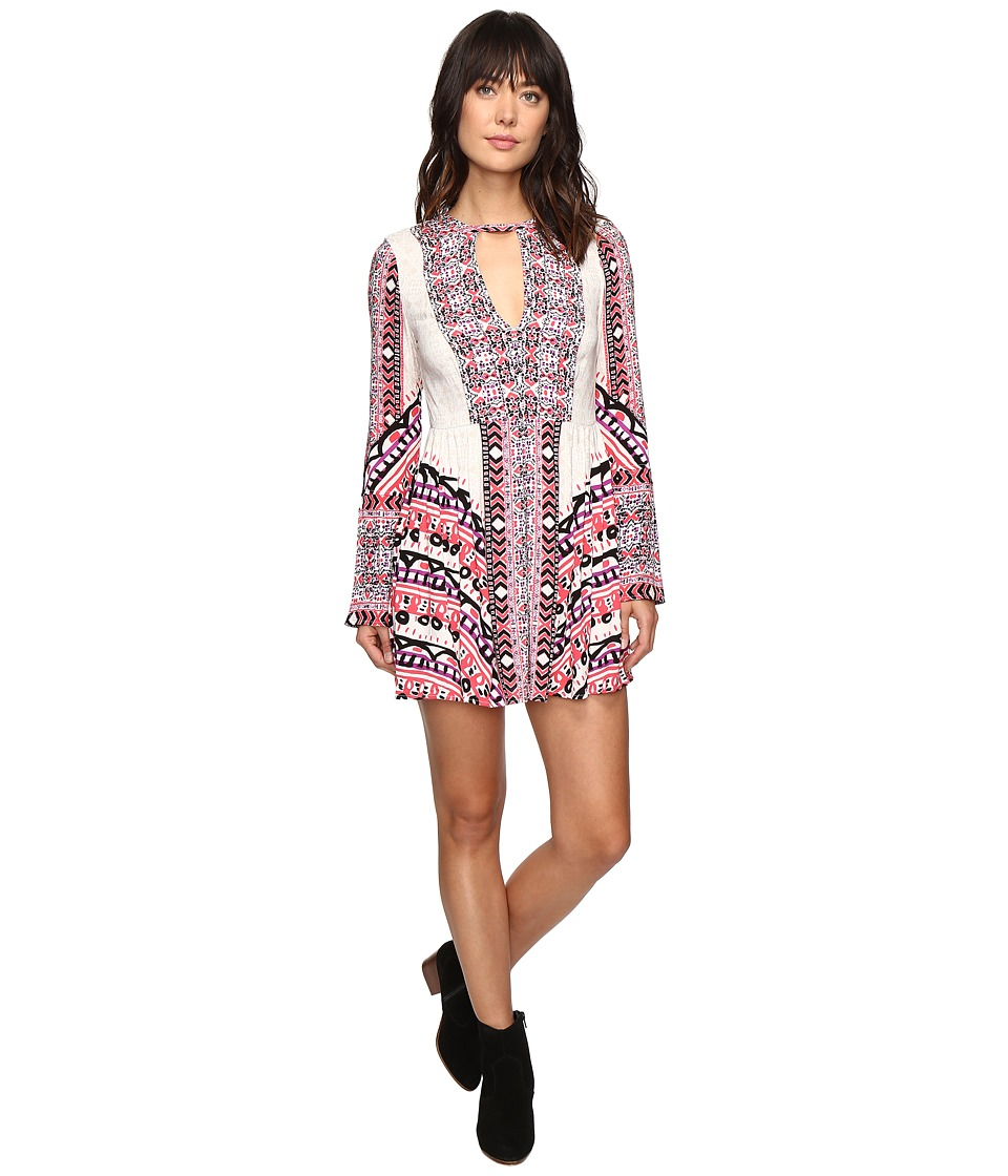 Free People - Teagan Printed Mini Dress (Ivory Combo) Women's Dress