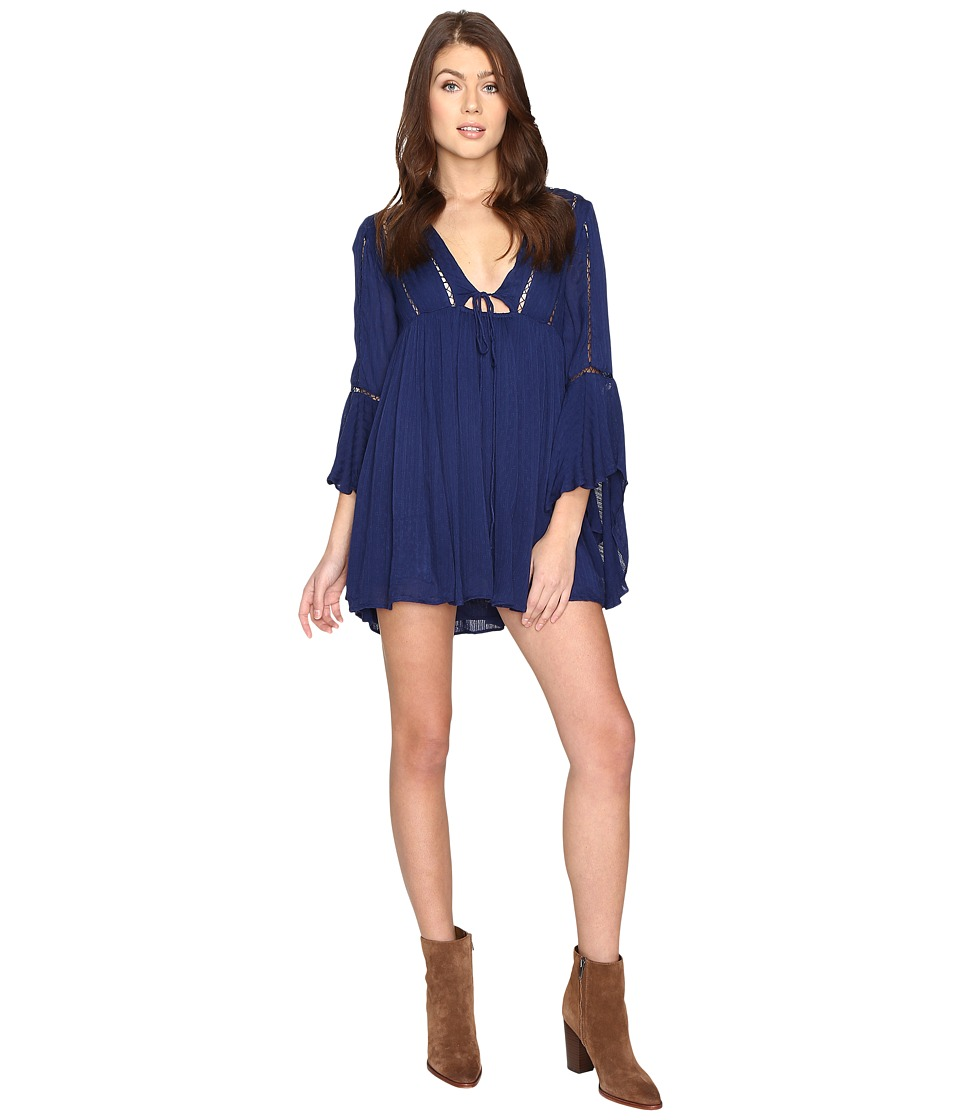 Free People - Romeo Mini Dress (Navy) Women's Dress