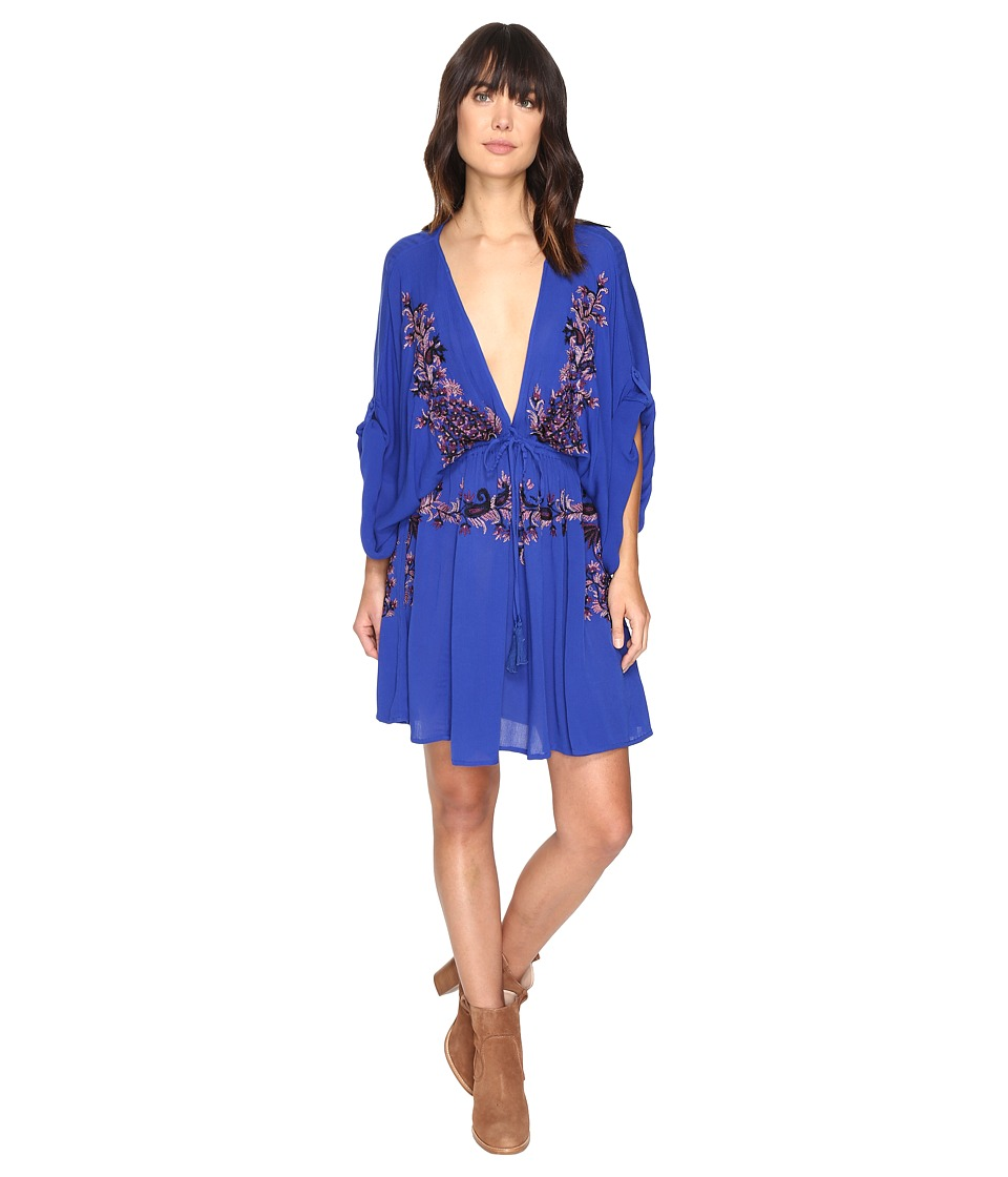 Free People - Pretty Pineapple Embroidered Dress (Sapphire) Women's Dress