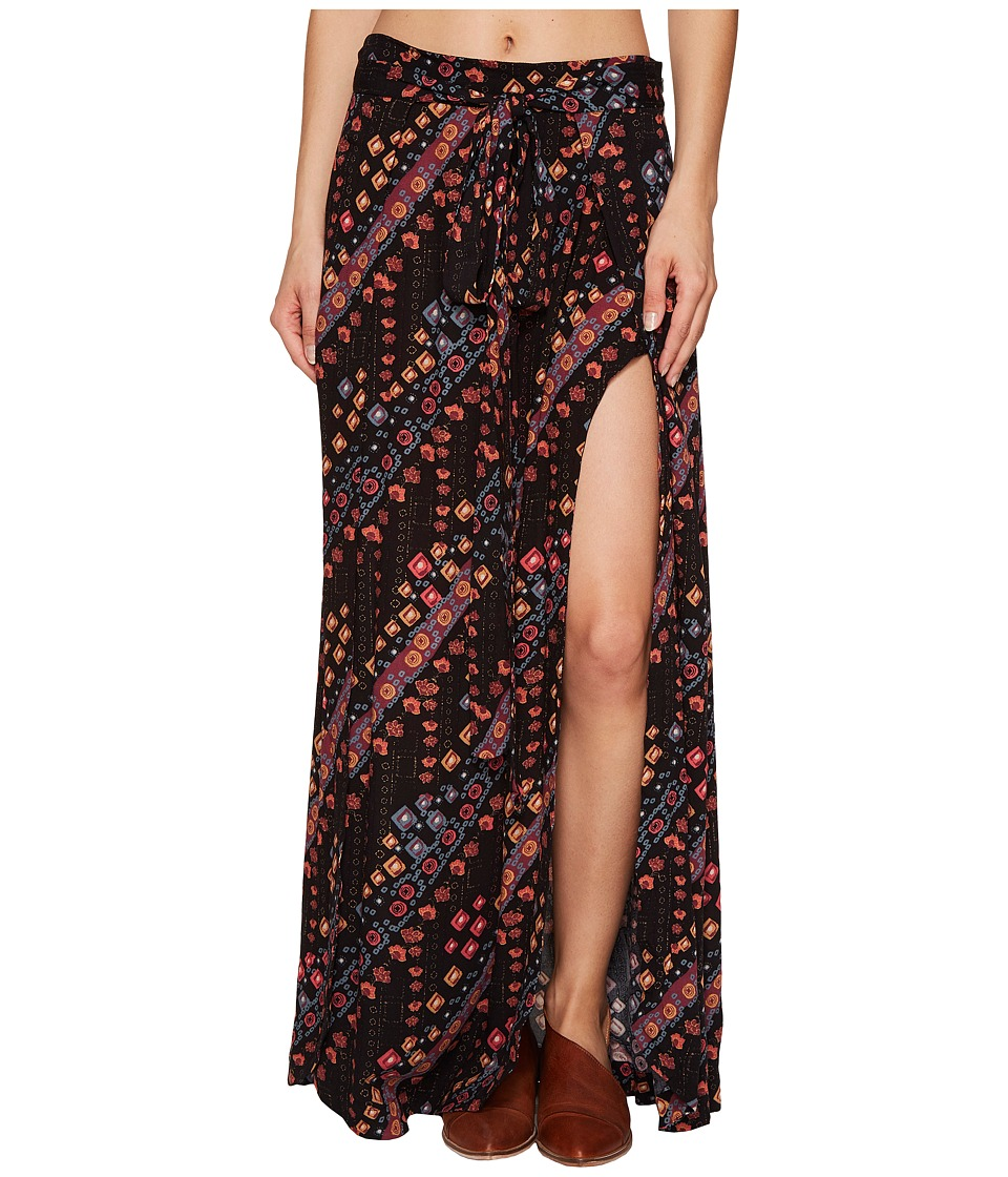 Free People - Remember Me Maxi Skirt (Black Combo) Women's Skirt