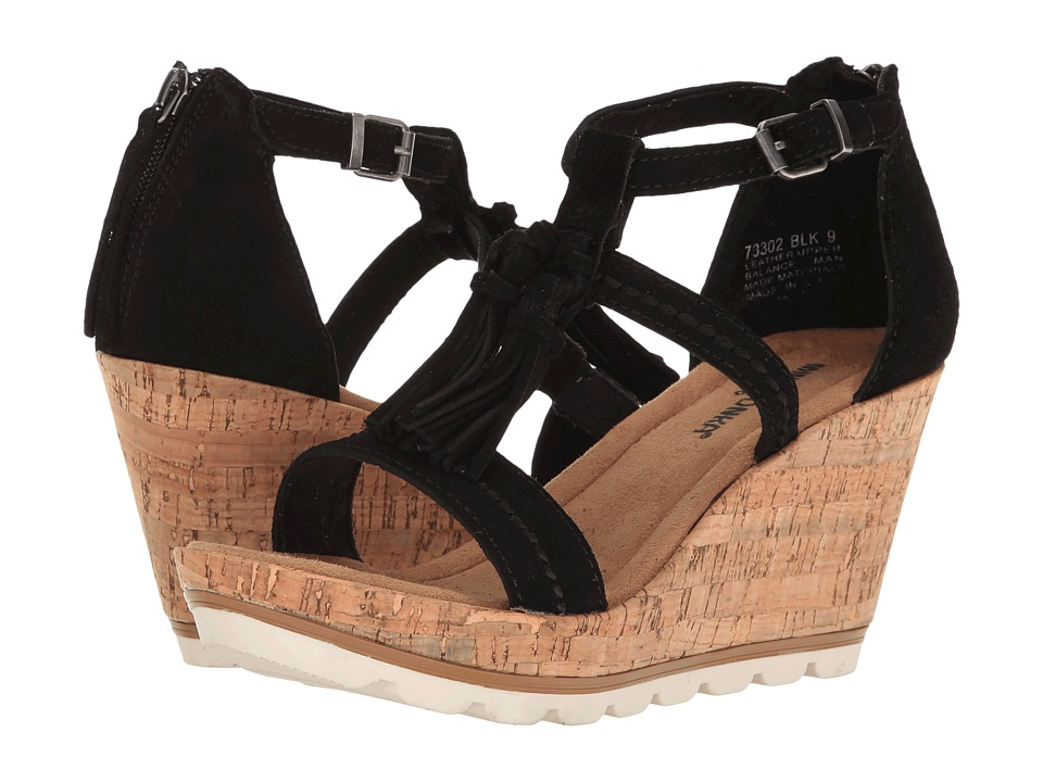 Minnetonka Lincoln (Black Suede) Women