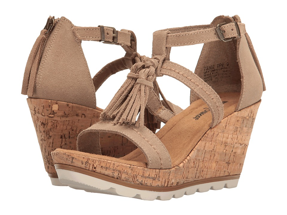 Minnetonka - Lincoln (Taupe Suede) Women's Wedge Shoes