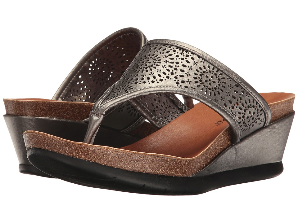 Minnetonka - Victoria (Pewter Leather) Women's Sandals