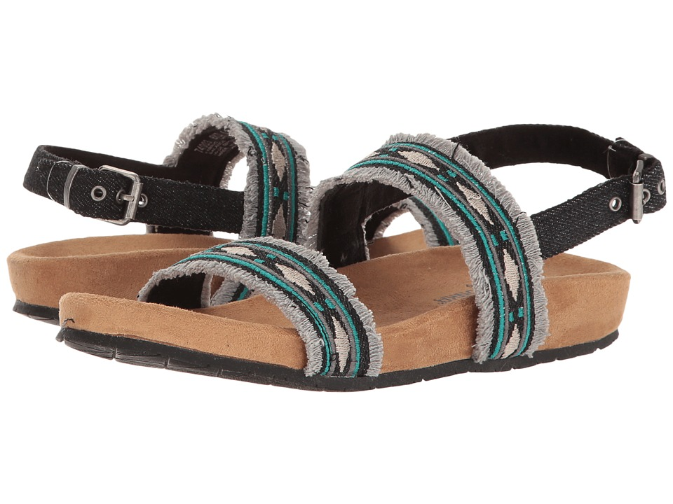 Minnetonka - Melody (Black Denim Fabric) Women's Sandals