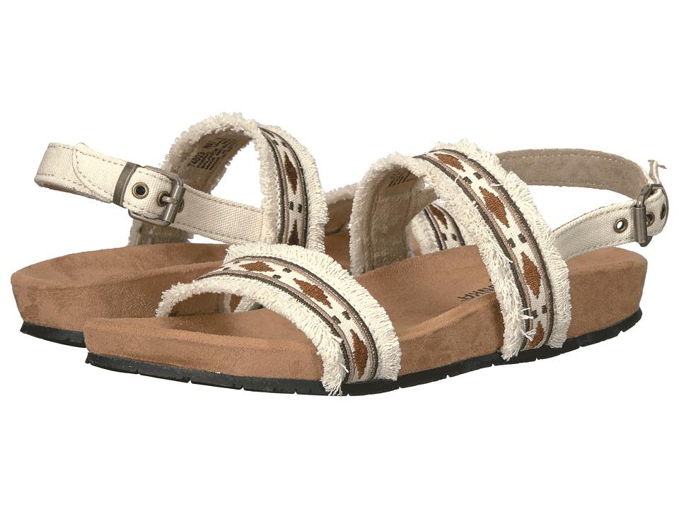 Minnetonka - Melody (Natural Denim Fabric) Women's Sandals