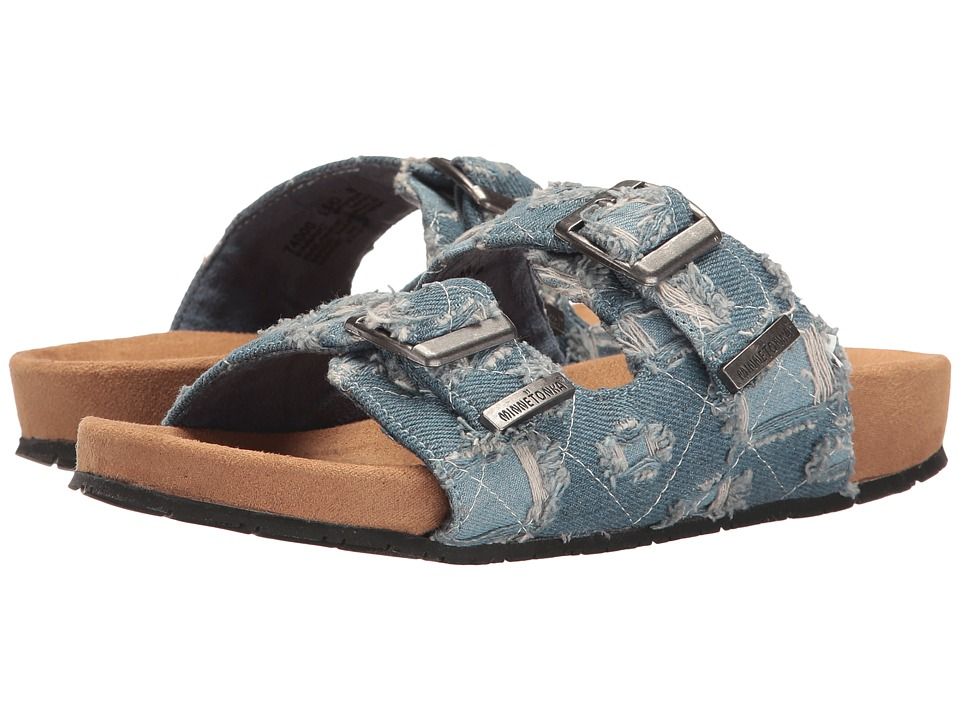 Minnetonka - Gypsy (Light Bllue Distressed Denim Fabric) Women's Sandals