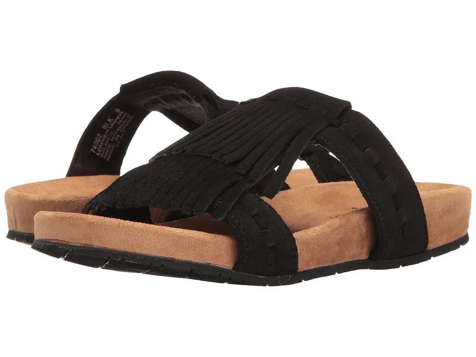 Minnetonka - Daisy (Black Suede) Women's Sandals