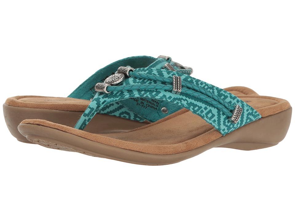 Minnetonka Silverthorne Thong (Turquoise Mesa Fabric) Women