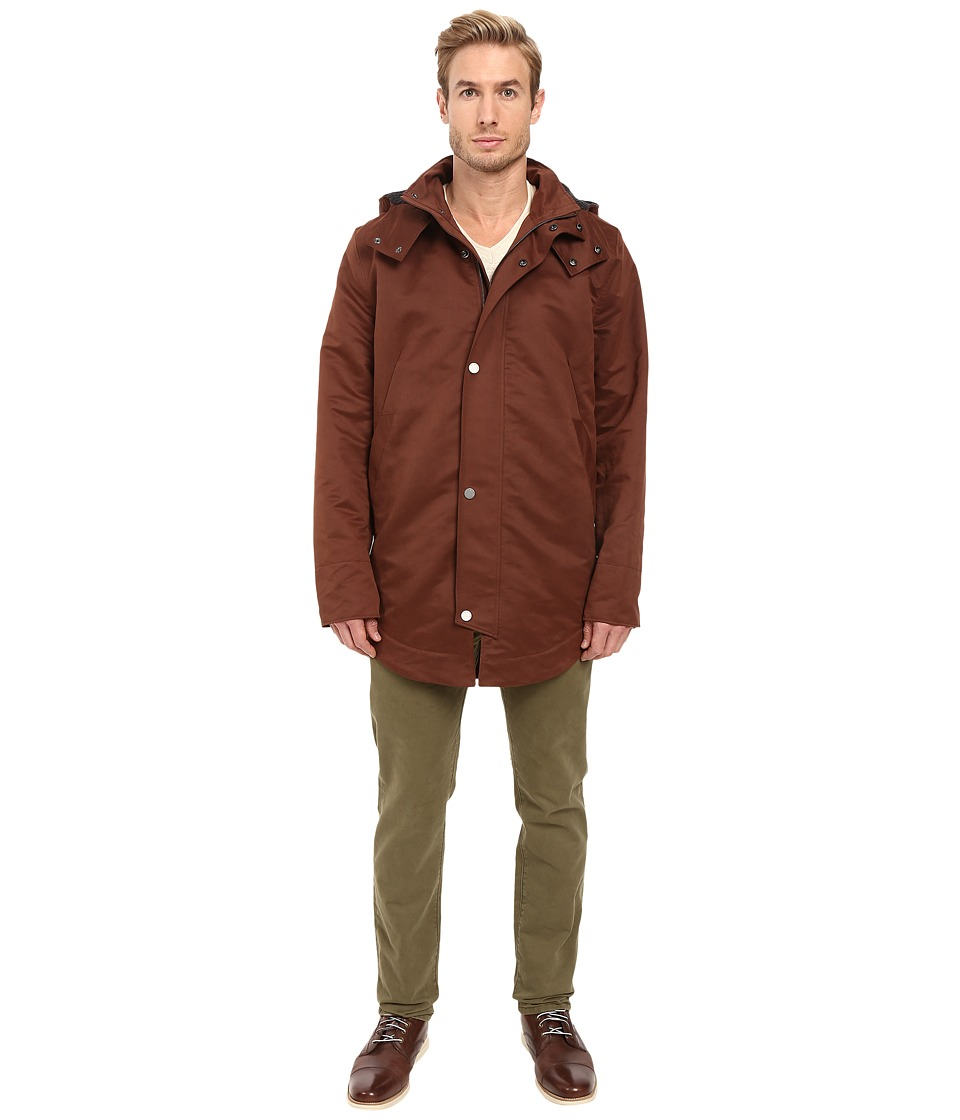 Exley NB - Essential Parka (Mineral Red) Men's Coat