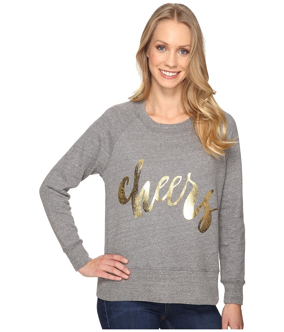 Allen Allen - Cheers Long Sleeve Raglan Crew (Zinc) Women's Long Sleeve Pullover