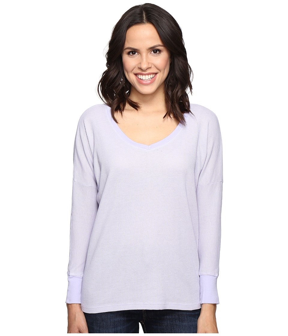 Allen Allen - Long Sleeve Drop Shoulder High-Low V-Neck (Garden Purple) Women's Long Sleeve Pullover