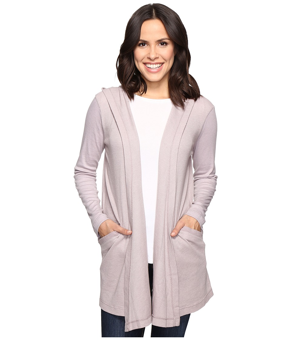Allen Allen - Long Sleeve Hooded Open Cardigan (Earth) Women's Sweater