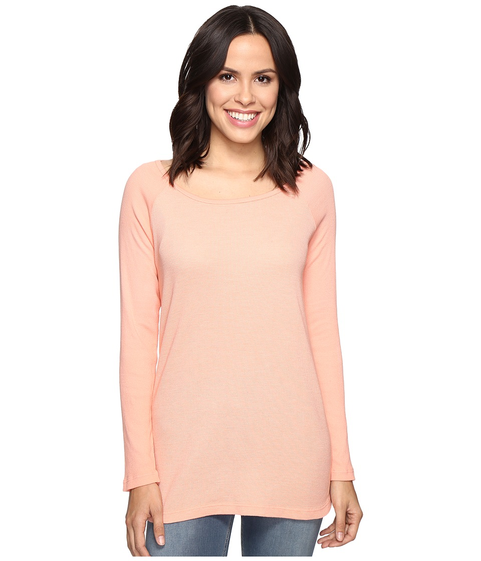 Allen Allen Long Sleeve Raglan Tunic w/ Contrast Sleeves (Nectar) Women's Blouse