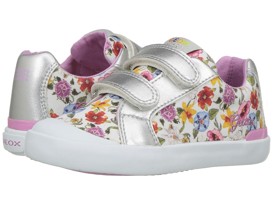 Geox Kids - Jr Kiwi Girl 83 (Toddler) (White) Girl's Shoes