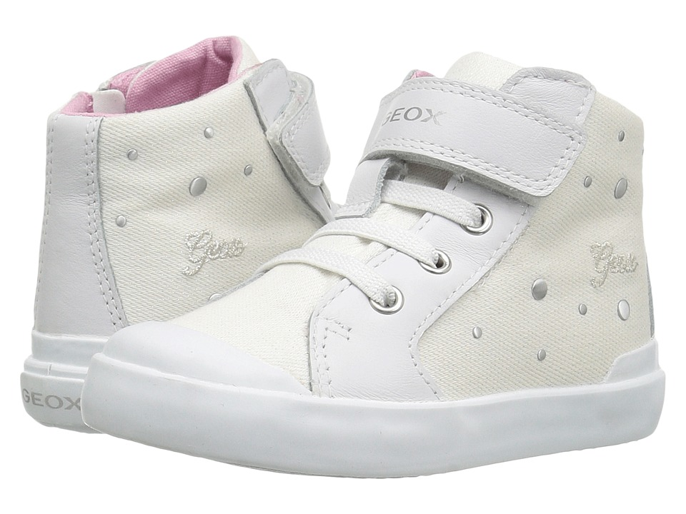 Geox Kids - Jr Kiwi Girl 87 (Toddler) (White) Girl's Shoes